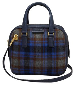 Marc by Marc Jacobs Tartan Plaid Satchel in Blue, Grey