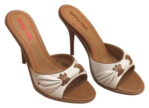 Luxury Rebel White with brown accents Sandals