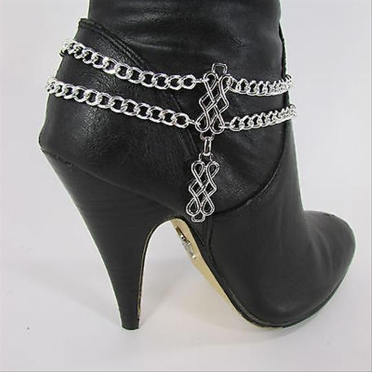 Other Women Classic Western Fashion Boot Chain Bracelet Silver Strap Metal Shoe Charm