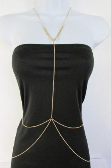 Other Women Classic Style Thin Gold Metal Body Chain Necklace Hot Fashion Jewelry