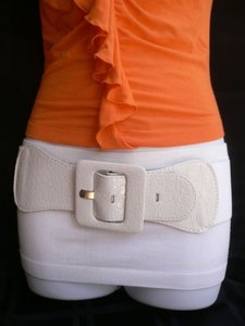 Other Women Low Hip Elastic High Waist True White Fashion Belt Plus Size