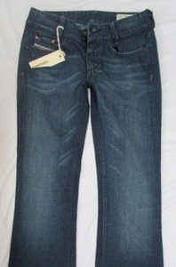 Diesel Women Pants Classic Denim Dark Blue Legs W25 L32 Boot Cut Jeans