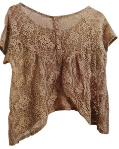 Sans Souci Lace Top Tan