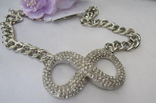 Other Women Fashion Necklace Silver Chains Big Infinity Sign