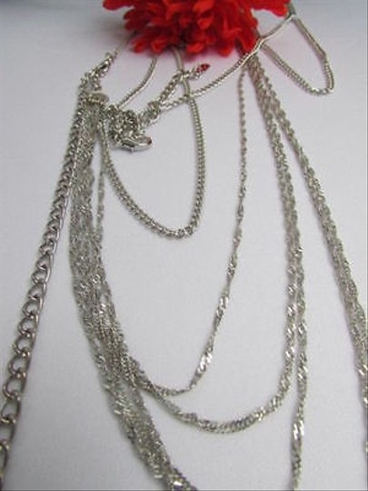 Other Women Thin Silver Metal Wave Hips Body Chain Jewelry
