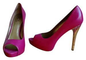 Report Signature Peep Toe Hidden Platform Pink Pumps