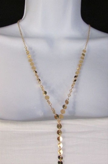 Other Women Classic Thin Gold Metal Body Chain Leaf Fashion Jewwlry Long Necklace