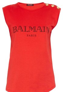 Balmain T Shirt Red