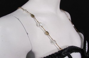 Other Women Decorative Accessories Lingerie Bra Straps Gold Metal Big Pearl Beads