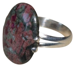 Other Sterling Silver Bloodstone gemstone ring