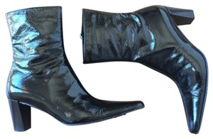 Aquatalia by Marvin K. Sexy Shiny Statement Comfortable Rainy Days Black patent leather Boots