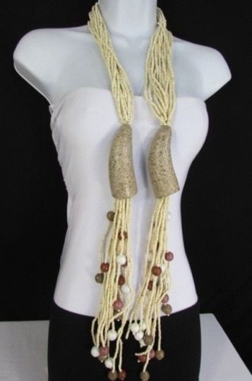 Other Women 50long Beige Beads Eco Friendly Fashion Necklace Sustainable Material