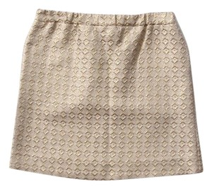 Marni Mini Mini Skirt metallic gold