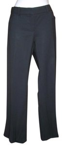 Theory Trousers Stretch Wool Fall Boot Cut Pants Black