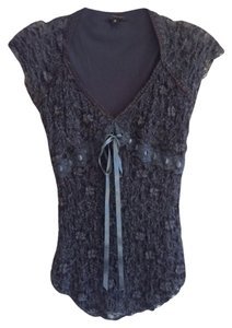 Ann Ferriday Sexy Packable Neutral Color Fully Lined Cap Sleeves Top Charcoal/Grey