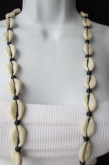 Other Women Long Fashion Necklace Multi Mini Real Sea Shells And Beads 20 Drop