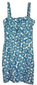 Jones New York short dress Sky Blue Watercolor Floral Sleeveless on Tradesy