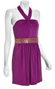 Laundry by Shelli Segal Beaded Belt Gold Beads Dress