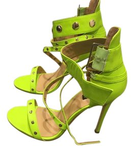 Alexandra G Studded Box Shoe Lime Sandals