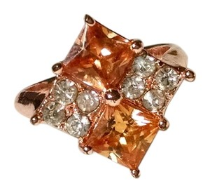 Gold Filled Cubic Zirconia 14K Gold Filled Ring Size 8 New J682