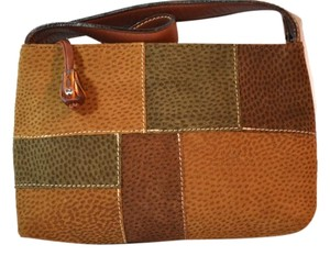 Chiarini Leather Patchwork Argentina Designer Fall Satchel in Brown