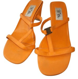 Bob Mackie Orange Sandals
