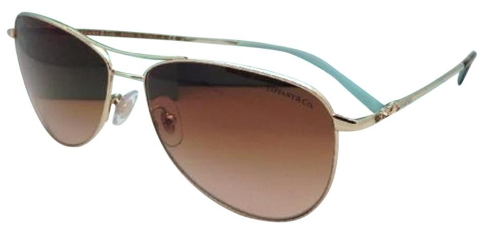 05efb0ed473 Tiffany   Co. Tf 3044 6021 3b Pale Gold Aviator Frame W  Brown New ...