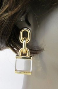 Other Women Thick Chains Chunky Metal Locks Fashion Hook Earrings Set Silver Gold