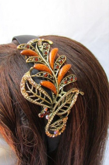 Other Women Fashion Headband Long Leaf Black Brown Red Green Multicolor