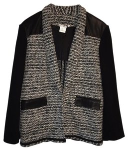 Alice + Olivia Black/White Tweed Blazer