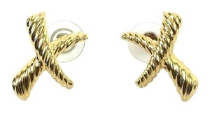 Paloma Picasso Vintage Paloma Picasso Inspired Iconic Gold Logo Stud Earrings