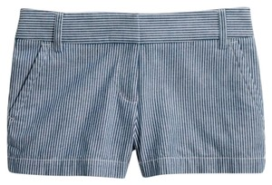 J.Crew Mini/Short Shorts Blue & white