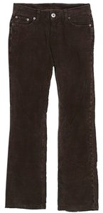 James Perse Super Low-rise Corduroy Boot Cut Pants Brown
