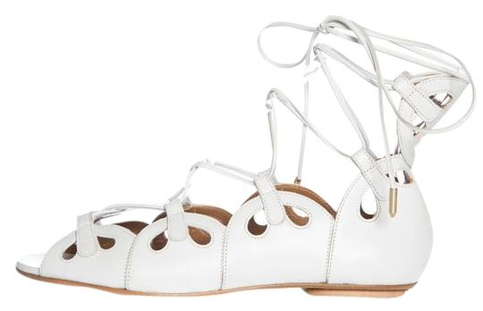 Preload https://img-static.tradesy.com/item/19294054/aquazzura-white-leather-lace-up-flats-size-eu-36-approx-us-6-regular-m-b-0-1-540-540.jpg
