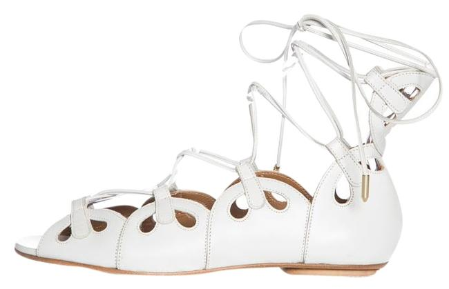 Aquazzura White Leather Lace Up Flats Size EU 36 (Approx. US 6) Regular (M, B) Aquazzura White Leather Lace Up Flats Size EU 36 (Approx. US 6) Regular (M, B) Image 1