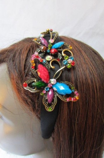 Other Women Fashion Headband Big Butterfly Blue Red Gray Purple Multicolor