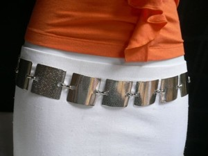 Other Women Hip Waist Mesh Metal Fashion Belt 1.5 Bubble Squares