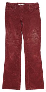 Diane von Furstenberg Textured Boot Cut Pants Red