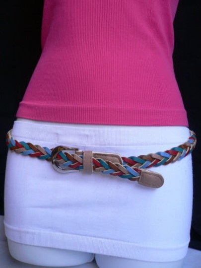 Preload https://item2.tradesy.com/images/women-braided-taupe-thin-fashion-belt-red-brown-blue-32-38-1929436-0-0.jpg?width=440&height=440