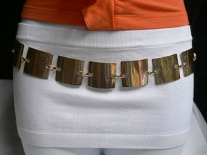 Women Hip Waist Mesh Metal Gold Fashion Belt Bubble Squares 28-44 S-m-l-xl