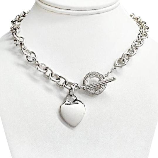 Tiffany & Co. Toggle Necklace With Heart Charm