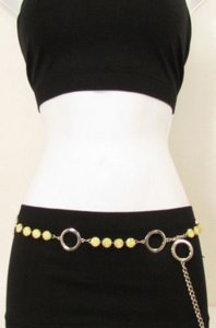 Other Women Silver Metal Chains Hip Fashion Belt Big Rhinestones 29-43