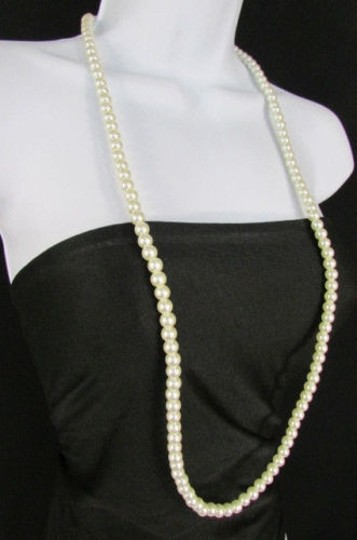Other Women 18 Long Strand Imitation Pearl Beads Classic Fashion Necklace