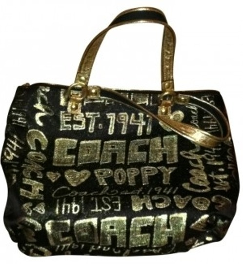 Preload https://item1.tradesy.com/images/coach-black-and-gold-tote-192950-0-0.jpg?width=440&height=440