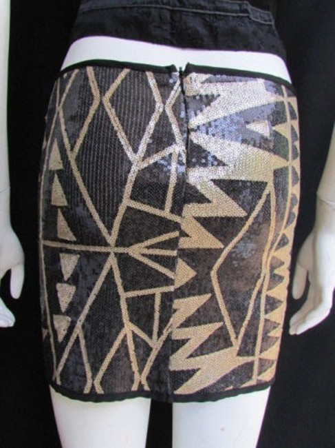 Other A Women Gold Sequins Party Fashion Elastic Mini Skirt Blacks