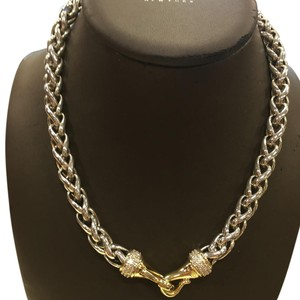David Yurman Wheat Chain With Pave Diamonds