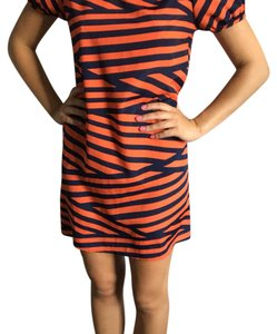 Francesca's short dress Red and navy blue stripped on Tradesy