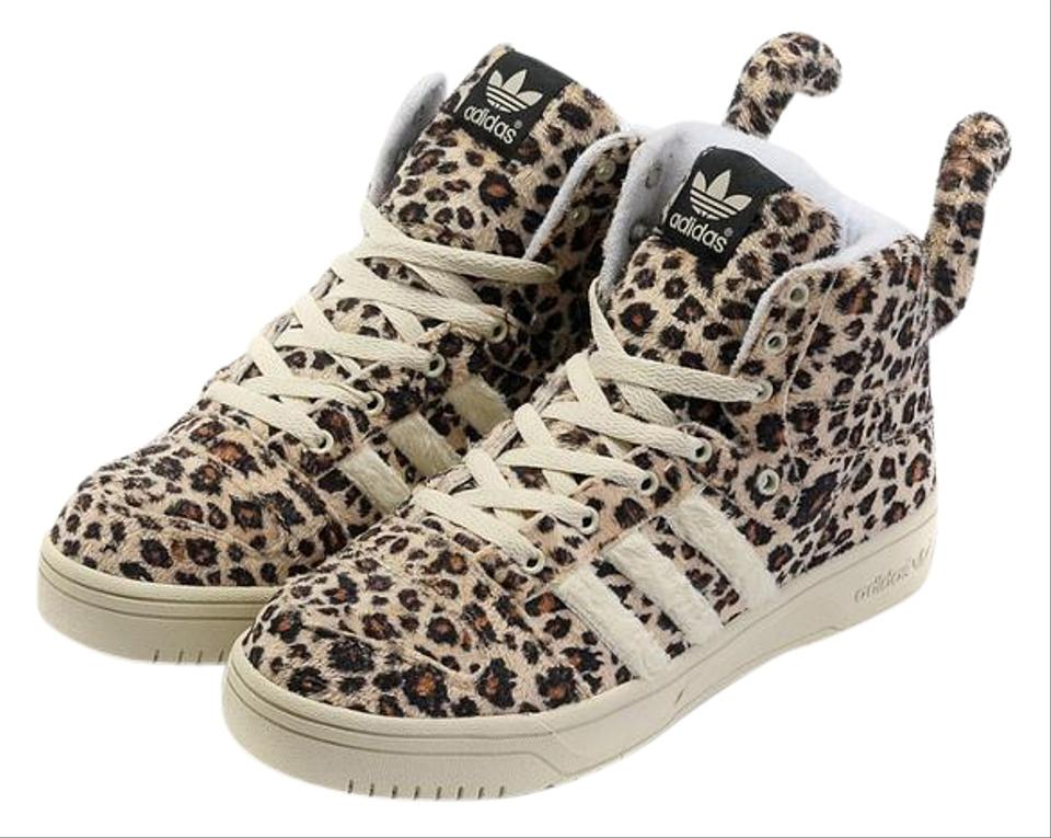 Leopard Print Adidas Shoes With Tail