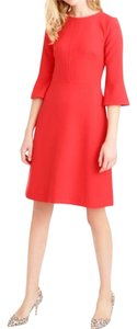 J.Crew Size 6 Free Shipping Red Orange Dress