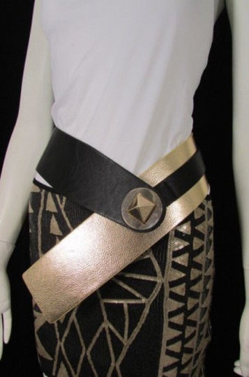 Preload https://item2.tradesy.com/images/women-black-gold-faux-leather-hip-waist-wide-fashion-belt-square-buckle-1929561-0-0.jpg?width=440&height=440